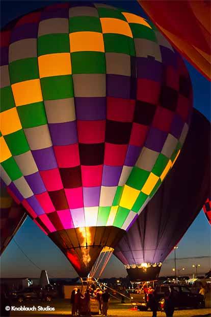 Nightly Balloon Glows