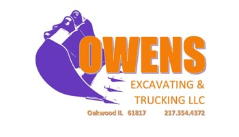 Owens Excavating Trucking Logo