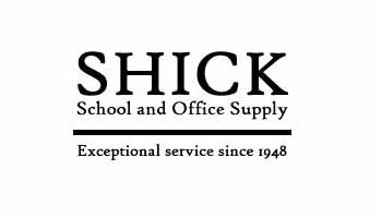 Shick School Office Supply Logo